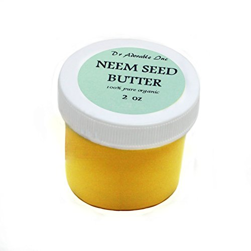 Neem Seed Butter Pure Organic Cold Pressed Unrefined Skin Recovery Relief Healing 2 oz