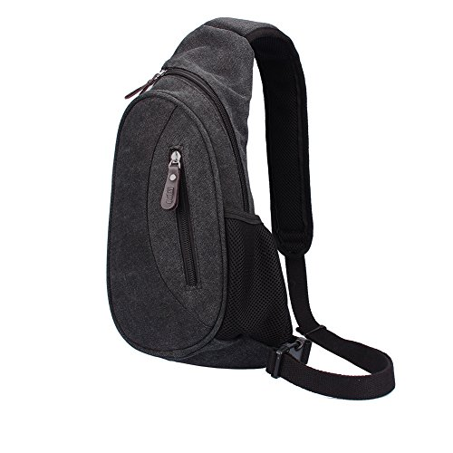 OUTRY Canvas Sling Shoulder Day Bag, Chest Pack (Body Handtasche Bag)