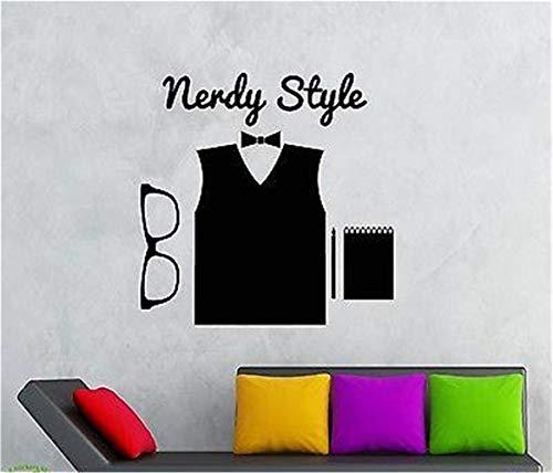 wandaufkleber gaming Hipster Nerdy Style High Fashion Brille