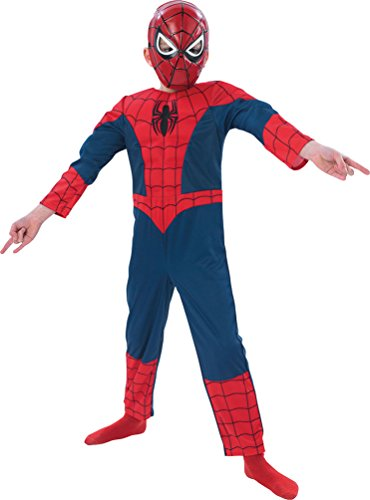 ,Karneval Klamotten' Kostüm Spiderman Luxus Karneval Comics Kinderkostüm Größe (Kind Spiderman Film Kostüme)
