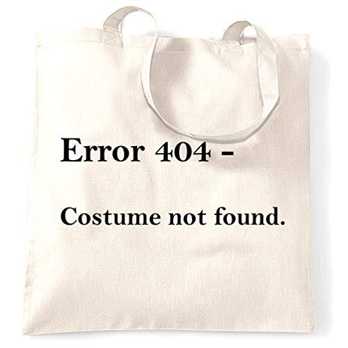 Tim And Ted Nerdy Halloween Tragetasche Fehler 404, Kostüm nicht gefunden White One Size