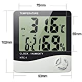 Buyerzone Temperature Humidity Time Display Meter with Alarm Clock
