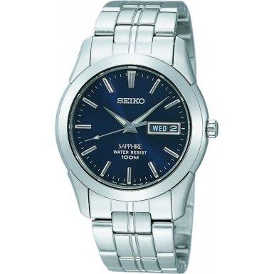Seiko SGG717P1 - Reloj analógico de caballero de cuarzo con correa de acero inoxidable plateada - sumergible a 100 metros