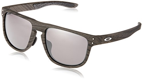 Oakley Men's Holbrook R (a) Non-Polarized Iridium Square Sunglasses, Woodgrain, 55.0 mm
