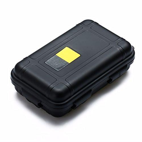 L-DiscountStore Coussin résistant aux Chocs avec Emballage Lebeila étanche Conteneur Plastique Dry Boîte de Rangement avec Mousse Flottante Survivor Dry Coque pour l'extérieur 13 * 8 * 4cm Noir