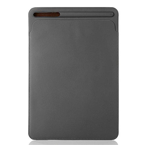 Pinhen Hülle für iPad Air 10.5 Sleeve Tasche und Pencil Halter - iPad Pro 10,5 Tablette Hülle Leder Schutzhülle Sleeve Schutzhülle für das Neue Apple iPad Air 10.5 und iPad Pro 10,5 (10.5, Grey)