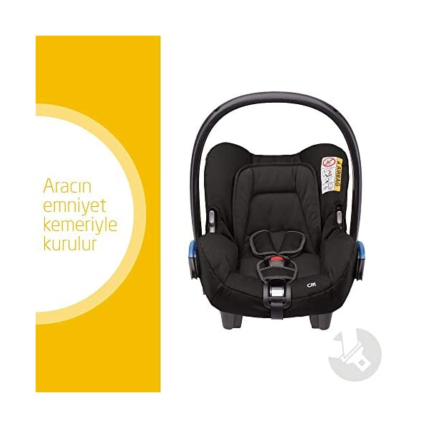Maxi-Cosi Kinderautositz Citi Black Raven Maxi-Cosi Side protection system, guarantees optimal protection in the event of a side impact Lightweight, light weight and ergonomically shaped safety bar for use as carrying handle Practical travel system 2