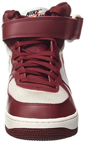 Nike Air Force 1 Mid '07, Chaussures de Basketball Homme Rouge (Team Red/team Red/summit White)