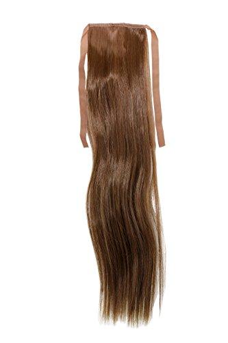 Haarteil, Zopf schmal Seitenzopf Cosplay Hell-Braun glatt 18'/45cm YZF-TS18-10 Band Haar-Klammer Haarverlängerung