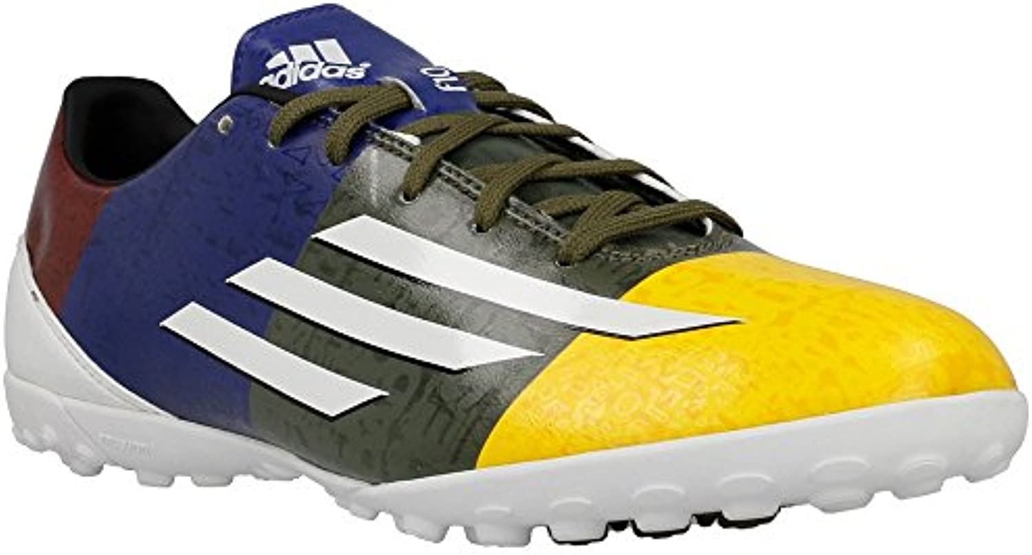 Adidas F10 TF Messi Fussballschuhe solar gold running white earth green   46