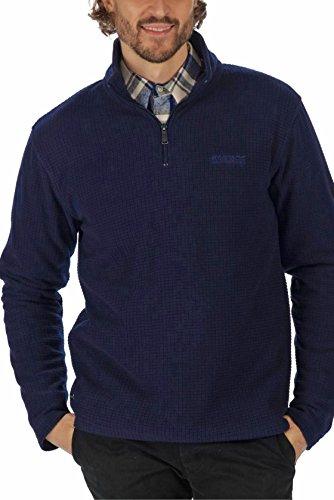 Felpa uomo con zip a mezza zip in tessuto Blu marino