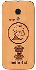 Aakrti Back cover With Narendra Modi's India's 1st Revolution Printed on Smart Phone Model : Xiaomi Redmi Note.Name Hiten (Hindu Boy ) replaced with Your desired Name