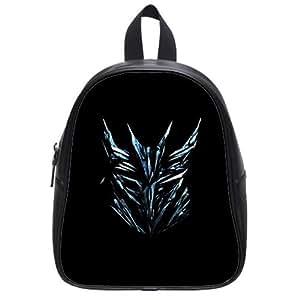 Hot Movie Transformers Badge Logo Background Printed Schoolbag for kindergarten Kids-Soft Leather Children Book Bag-Unique Baby Shoulders Satchel