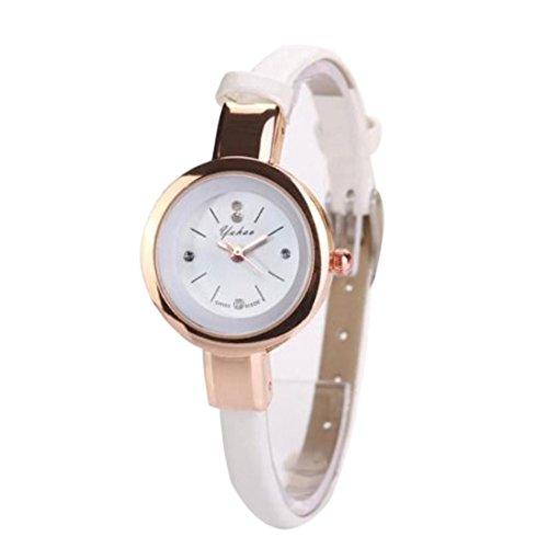 HUIHUI Uhren Damen, Geflochten Armbanduhren Günstige Uhren Wasserdicht Casual Strass Rivet Kette Runde Quarz Analog Armband Armbanduhr Coole Uhren Lederarmband Mädchen Frau Uhr (B)