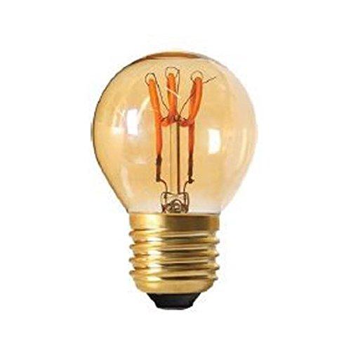 GIRARD SUDRON Leuchtmittel LED Glühlampe E272W Kugel Loops bernsteinfarben - Globus Mittlere Schraube