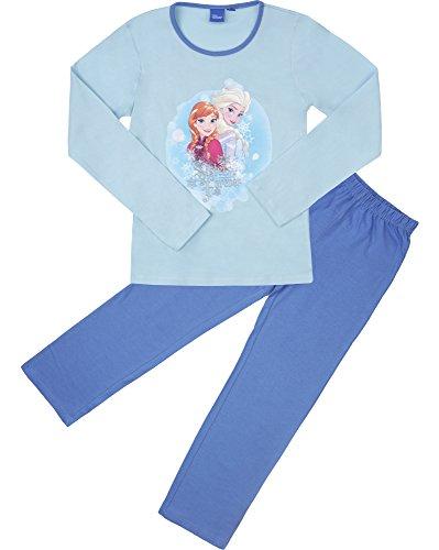 Frozen Mädchen Schlafanzug aus Baumwolle EP2009 (Türkis/Blau (2009), 6 Jahre-116) (Von Ausarbeitung Hose Muster)