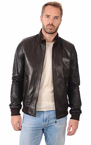 Premium Leather - Giacca - Uomo nero XXL