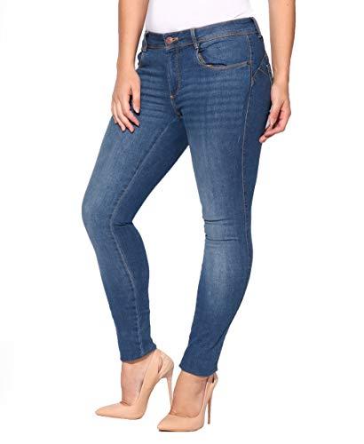 KRISP Damen Hose Basic Blaue Jeans (Blau, Gr.40) (2866-BLU-12) (Skinny Blu Jeans)
