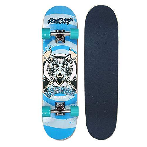 Cruiser Skateboard - Das Classic Style Mini Complete PRO Skateboard zur Perfektionierung Ihres Ollie und Kickflips - Lernen, Üben und Landtricks in kürzester Zeit!,34 (Skateboard-ollie)