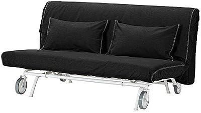 IKEA PS - cubierta sofá-cama de dos asientos, Vansta negro