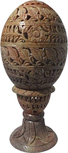 Kerzenhalter Ei Form 15,2cm geschnitzt Hand indischen Stone Home Decor 194 -
