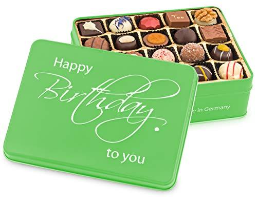 """Präsentdose """"Happy Birthday"""" 250g, Manufakturqualität!, handgefertigt von den Konditoren der Confiserie Rabbel...für ein Lächeln mehr am Tag"""