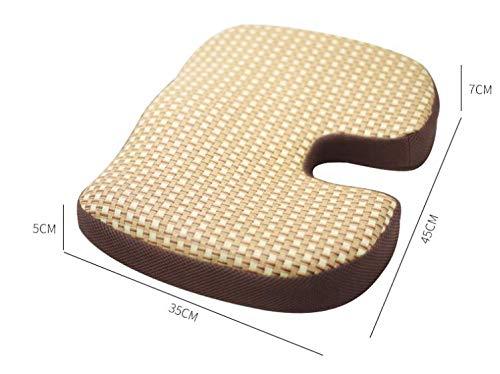 JINGQD Kühler für aktualisierte Version Version 1,5-2 ° C Orthopädisches Gel-Sitzkissen - Ergonomisches Memory-Schaummaterial, Steißbein-Kissen für Büro, Haushalt, Auto, Rollstuhl