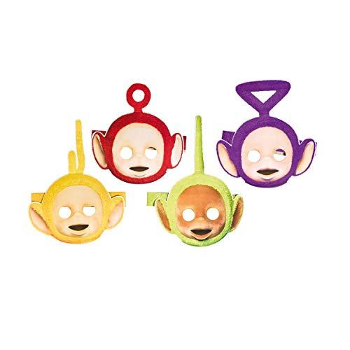 4 Party-Masken * TELETUBBIES * für Kindergeburtstag oder Motto-Party // Mask Verkleidung Kostüm Kinder Geburtstag Tele - Teletubbies Po Kind Kostüm