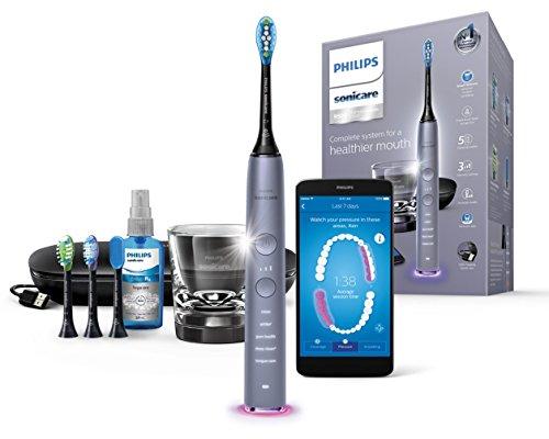 Philips Sonicare DiamondClean Smart Electric Toothbrush - Cashmere Grey Edition (UK 2-Pin Bathroom Plug) HX9924/44