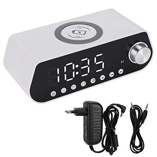 BTIHCEUOT Mini Wireless Bluetooth Lautsprecher, Leadstar MX-23 LED Zeitanzeige Wireless Fast Charger Bluetooth Lautsprecher(Schwarz) (Mx Player-kostenlos)