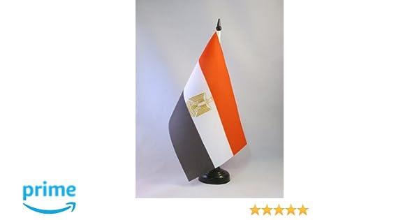 AZ FLAG Bandiera da Tavolo Egitto 21x14cm Piccola BANDIERINA EGIZIANA 14 x 21 cm