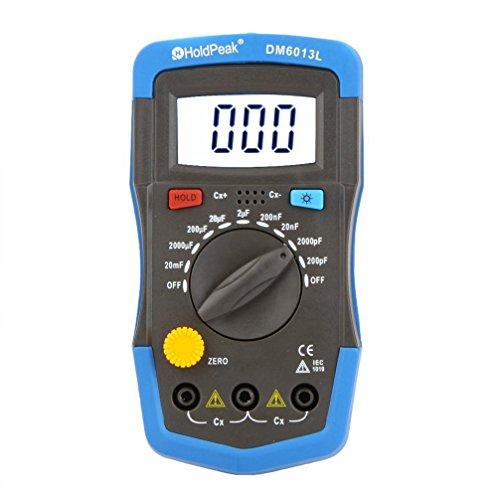 Kapazitaetsmessgeraet - TOOGOO(R)DM6013L Handheld Kapazitaetsmessgeraet Kondensator Meter w / LCD Hintergrundbeleuchtung
