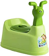 Online Choice Toilet Trainer Baby Potty Seat Cartoon Face with Removable Tray & Closing Lid (Light Green)