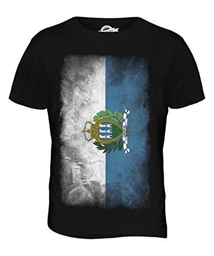 CandyMix São Tomé Und Príncipe Verblichen Flagge Herren T Shirt Schwarz