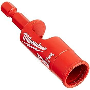 Milwaukee 45242223756 Diamond Plus Forages//Tr/épans /à Eau///à Sec Rouge