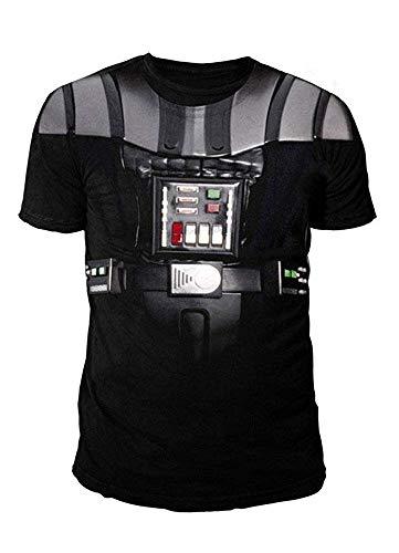 (Star Wars - Krieg der Sterne Herren T-Shirt - Darth Vader Suit (Schwarz) (S-XL) (L))