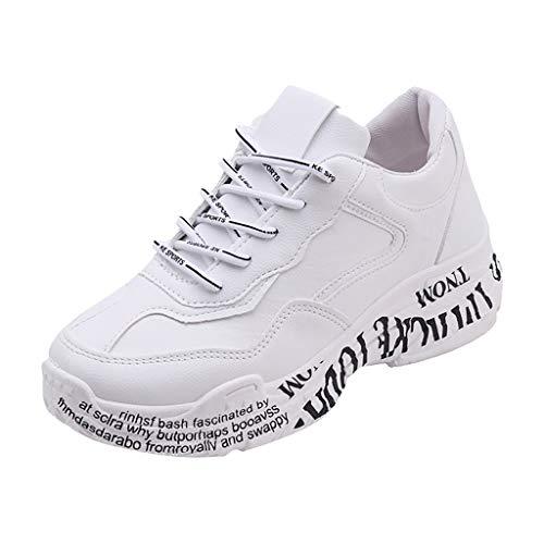Scarpe Eleganti Donna Sneakers Donna Scarpe Sportive Donna Mesh Traspirante Casual con Suola Spessa Scarpe da Ginnastica Basse Donna Sneakers Running Invernali Sneakers Donna