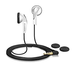 Sennheiser MX 365 Earbud Headphone with Powerful Bass (White)