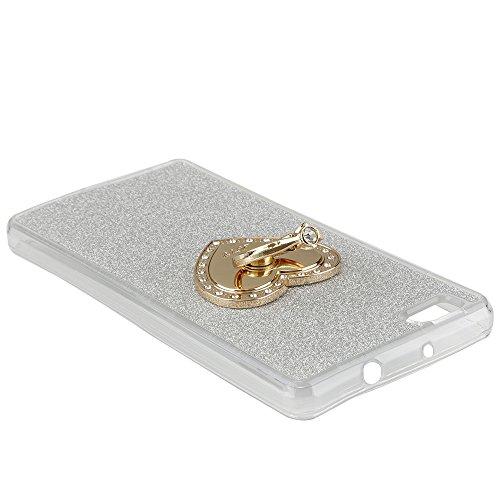 Für Apple iPhone 6 6S(4,7 Zoll),Sunrive Schutzhülle Kickstand Etui Ring Hülle TPU Silikon Scrub Rückschale Silicon Anti-Tropfen Tasche Case Bumper Abdeckung Handyhülle(Hellgrün)+Gratis Universal Einga Silber