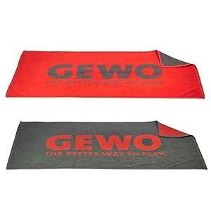 GEWO Tischtennis-Handtuch Match Anthrazit/Rot, 50 x 100 cm