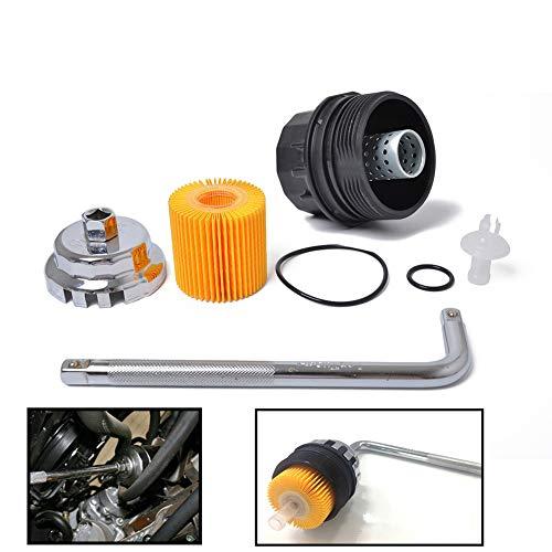 BEESCLOVER 15620-37010 04152-37010 Lot de filtres à Huile pour Voiture Toyota Corolla Prius A13505