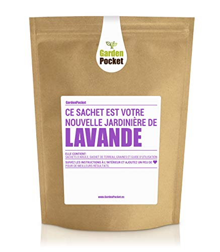 Garden Pocket - Kit de culture d'herbes aromatiques LAVANDE - Sac de pot de fleur