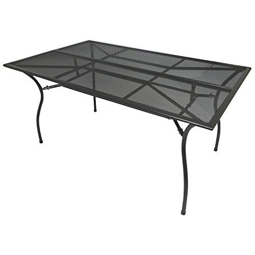 DEGAMO Gartentisch Classic 90x150cm rechteckig, aus Metall/Streckmetall, anthrazit
