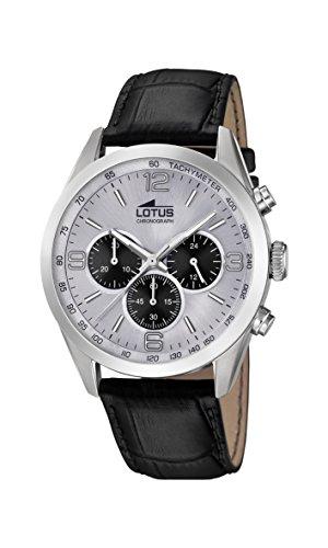 Lotus Watches Reloj Cronógrafo para Hombre de Cuarzo con Correa en Cuero 18155/6
