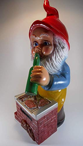 Gartenzwerg Grillmeister aus bruchfestem PVC Zwerg Made in Germany Figur - 6