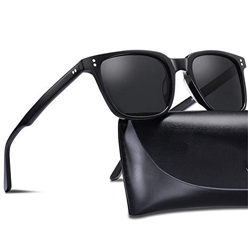 AOCCK Sonnenbrillen,Brillen, Men's Polarized Vintage Sunglasses Square Eyewear Fashion Retro Sun Glasses Brand Designer Driving 100% UV Protection With box Turtle grey C04