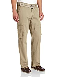 Lee Mens Relaxed Fit Utility Belted Cargo Pants, Beachwood, 30W x 30L