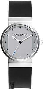 Jacob Jensen Reloj Analógico para Mujer de Cuarzo con Correa en Caucho New Series Item NO. 741 de Jacob Jensen