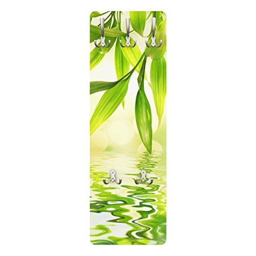 Apalis 78998 Wandgarderobe Green Ambiance I | Design Garderobe Garderobenpaneel Kleiderhaken Flurgarderobe Hakenleiste Holz Standgarderobe Hängegarderobe | 139x46cm
