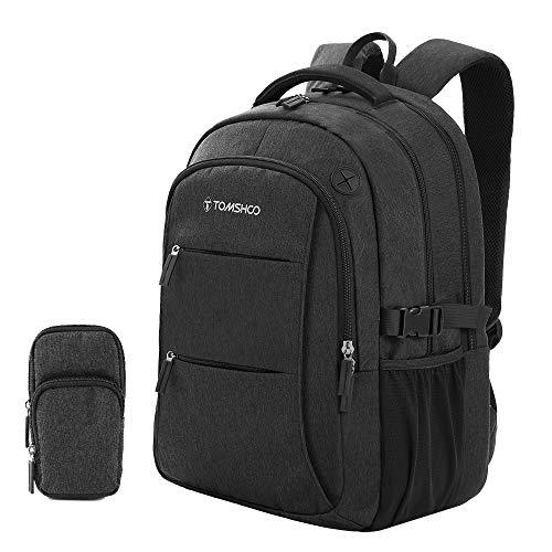 TOMSHOO Zaino da Viaggio, Business Anti Theft Laptop Backpack Antiurto con Telefono Cellulare Tasca per Gli Uomini Donne